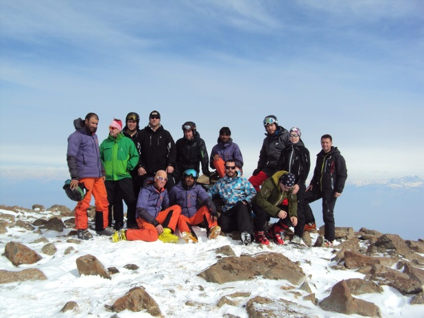 FSH Guest Groups on Mt. Apharwat Peak at 4'200 m