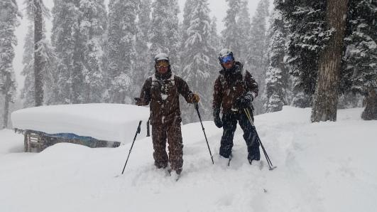Himalaya cable car serviced backcountry skiing